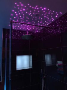 LED ceiling lights - bathroom showroom hampshire